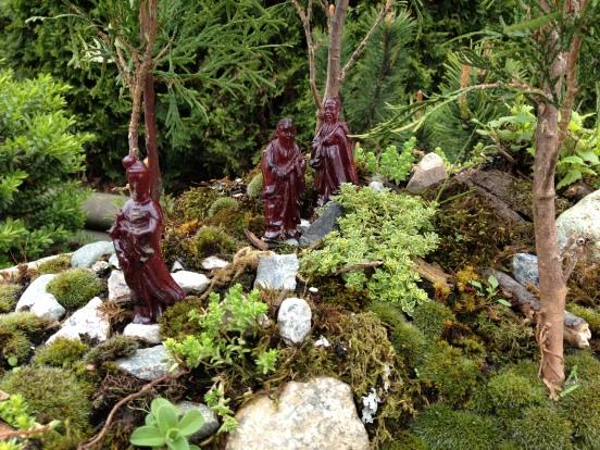Figures in planter