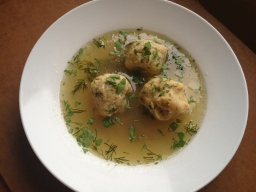 Matzoh ball soup - first recipe of the year.