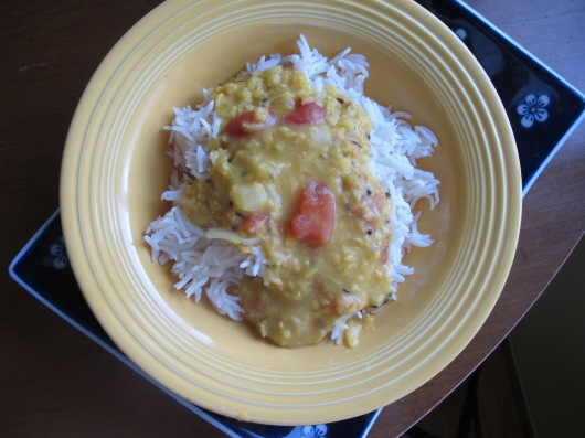 Yellow dahl: a potluck staple