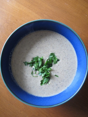 Cream of mushroom soup: an old favourite