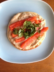 Some kind of white bean spread...tasty, but the best part was the mini naan bread I spread it on.